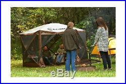 Quick Set 9879 Portable Popup Gazebo Tent 6 8 Person Outdoor Shelter Brown Tan