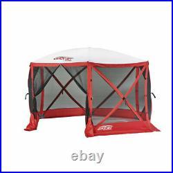 Quick-Set Escape Sport 11.5' 8 Person Camping Canopy Tent, Red (Open Box)