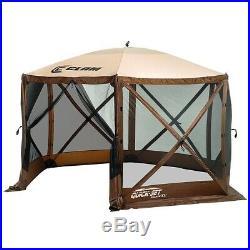 Quick-Set Escape XL Portable Camping Outdoor Gazebo Canopy Shelter, Brown