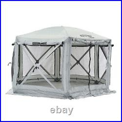 Quick-Set Pavilion Outdoor Gazebo Canopy Shelter Screen Tent, Gray (For Parts)