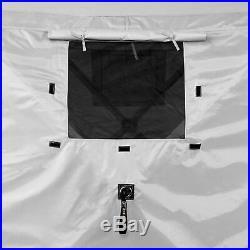 Quick-Set Pavilion Portable Outdoor Gazebo Canopy Shelter Screen Tent, Gray