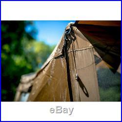 Quick-Set Venture Outdoor Gazebo Canopy Shelter & Screen Tent, Gray (Open Box)
