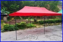 Red 10x20 Instant Canopy Beach Sun Shade Tailgate Shelter Home Backyard Gazebo