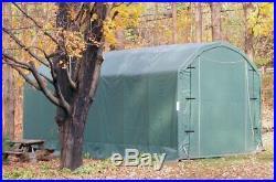 Rhino Shelter Barn Style 12' W x 28' L x 12' H Green Building Gambrel