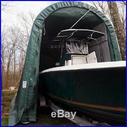 Rhino Shelter Round Style 14' W x 36' L x 15' H Green RV/Boat Garage