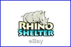 Rhino Shelter Round Style 30' W x 40' L x 15' H White/White Shelter Main Cover