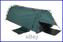 Sahara Explorer Green Freestanding King Single Dome Canvas Swag