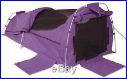 Sahara Nomad King Single Dome Canvas Swag & Bag Purple
