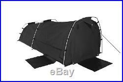 Sahara Nomad King Single Dome Canvas Swag with Bag Black