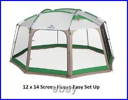 Screen House 12'x14, Easy Sey Up Picnic Camping RV Park Back Yard Tent