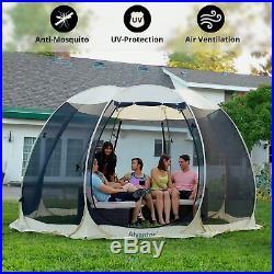 Screen House Tent Canopy Outdoor Mesh Bug Sun Shade Zipper Door Camping 12'x12