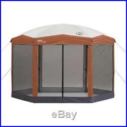 Screened Canopy Hex Instant Gazebo Camping Tent Shelter Shade House Bugs New