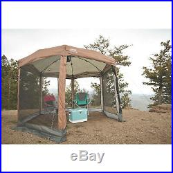 Screened Canopy Sun Shade 12x10 Tent With Instant Setup Pop Up Shelter Camping