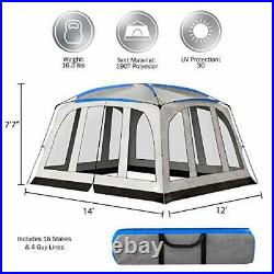Screened-in Canopy Tent- 14x12 Mesh Screen House for Instant Shelter Shade