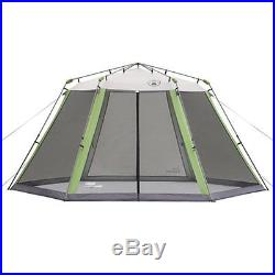 Screened-in Sun Shade Shelter Tent 15 x 13-ft Outdoor Instant Hexagon Easy Setup