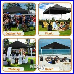 SereneLife SLGZ10BA Waterproof Pop Up Tent Commercial Instant Shelter 10 x 10 ft