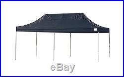 ShelterLogic 10x20 ST Pop-up Canopy, Black Cover, Black Roller Bag 22536 Canopy