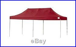 ShelterLogic 10x20 ST Pop-up Canopy, Red Cover, Black Roller Bag 22537 Canopy