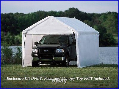 ShelterLogic 12x26 White Canopy Enclosure Kit, Fits 2 Frame 25776 Canopy NEW