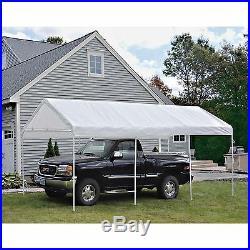 ShelterLogic 20 x 10 ft. All-Purpose Canopy 8 Leg, White, 10 x 20