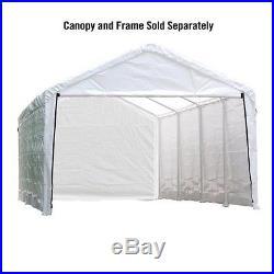 ShelterLogic Super Max 12'x26' Canopy Enclosure Kit in White