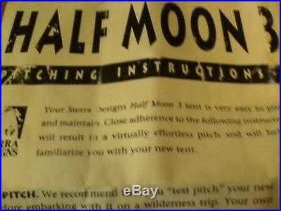 Sierra Designs Half-Moon 3 camping tent