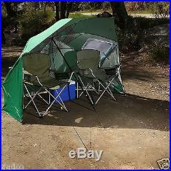Sport-Brella 8' Wide Portable Sun Weather Shelter Beach Camping Umbrella Blue