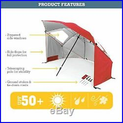 Sport-Brella Super-Brella SPF 50+ Sun and Rain Canopy Umbrella for Beach and