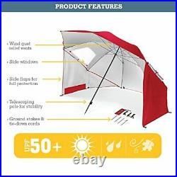 Sport-Brella Umbrella Portable Sun and Weather Shelter (Red 54 Inch)