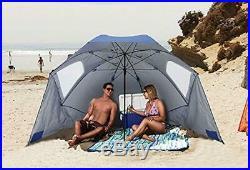 Sport-Brella XL Vented SPF 50+ Sun Rain Canopy Umbrella for Beach and Sports
