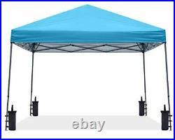 Stable Pop up Outdoor Canopy Tent, Sky Blue 12x12 sky blue