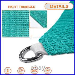 Sun Shade Sail Turquoise Right Triangle Permeable Canopy Lawn Patio With/6'' Kit