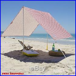 Sun Shelter Beach Tent Canopy Great Shade and Airflow Outdoor Camping Patio NEW