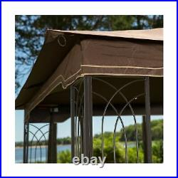Sunjoy Replacement Gazebo Canopy 10 x 12 Regency II Classic Outdoor Patio Brown