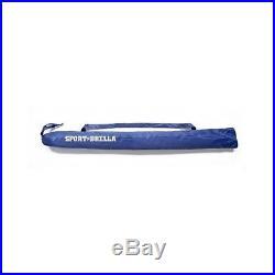 Super-Brella Beach Umbrella Canopy Sports Sun Rain Shelter Blue Folding Large 8