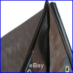 Super Heavy Duty Tarp Canvas 20x30 Shade Structure Brown Canopy Roof Boat Cover