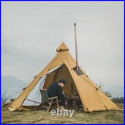 Four Man Tipi Pyramid Tent Bell Camping Retro Cool Festival Shelter Hiking New