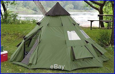 Teepee Tent 10'x10' Guide Gear Camping Scout Backpack Waterproof Hunting Sleep