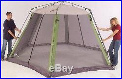 Tent Instant Screened Camping Shade Shelter Canopy Outdoor BackYard Cover Colem
