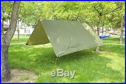 TheBlueStone Rain Tarp Shelter in 10 x 10 FT for Canopy Hammock Outdoor Camping
