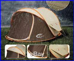 Thickening 3-4 Persons POP UP Family Outdoors Sandy Beach Leisure Camping Tent #