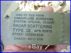 US Military Desert Camouflage Screening/Netting (rhombic and hexagon) RADAR SCAT