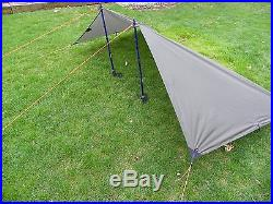 Ultra light silnylon Backpacking Tarp Trail Duster Simply Light Designs-Brown