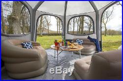 Vango Airbeam AirHub HEX Inflatable Gazebo Event Shelter GREY