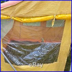 Vintage canvas tent screen westfalia vw tent bus