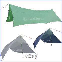 Waterproof Camping Tent Tarp Fly Sheet Sun Rain Shelter Bivi Basha Hammock Cover