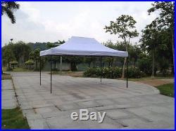 White 10x20 Instant Canopy Beach Sun Shade Tailgate Shelter Home Backyard Gazebo