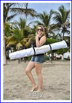 White Large Cabana Beach Tent Canopy Umbrella Outdoor Sun UV Shelter Camping