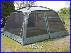 Yanes Kuche 12x12 Foot Screen Gazebo Tent with Rain Flaps