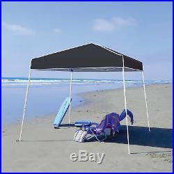 Z-Shade 10' x 10' Angled Leg Instant Shade Canopy Tent Portable Shelter, Black